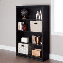 4-Shelf Bookcase - Black Oak