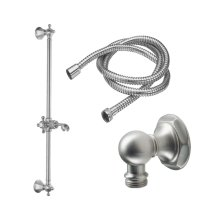 Slide Bar Handshower Kit - Cross Handle With Hex Base