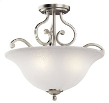 Camerena 3 Light Semi Flush Brushed Nickel