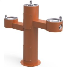 Elkay Outdoor Fountain Tri-Level Pedestal Non-Filtered, Non-Refrigerated Terracotta