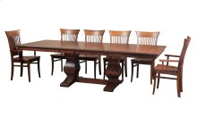 "45/68-2-12"", *5/4* Thick Top Trestle Table"