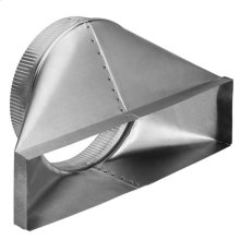 """4-1/2"""" x 18-1/2"""" to 10"""" Round Transition; 6"""" High, Lateral for Rear Discharge"""