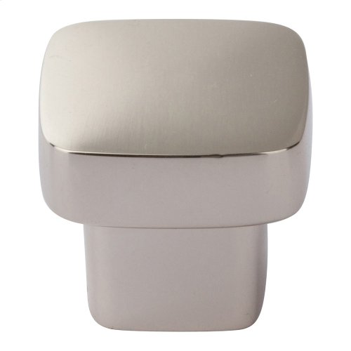 Chunky Square Knob Small 1 Inch - Polished Nickel