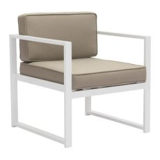 Golden Beach Arm Chair White & Taupe Product Image
