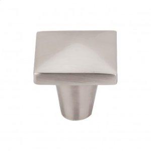 Aspen II Square Knob 1 1/4 Inch - Brushed Satin Nickel