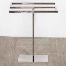 Floor-mount triple towel stand made of stainless steel, fixing floor kit included.