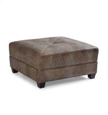Montgomery Cocktail Ottoman - Gator Tail Burnished
