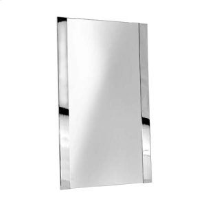 "Polished Nickel 20"" x 34"" Framed Mirror"