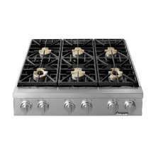 "36"" Heritage Range Top-SS Liquid Propane High Alt."