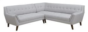 2pc Sectional-lsf Sofa-rsf Corner Sofa-cement