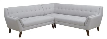 2pc Sectional-lsf Sofa-rsf Corner Sofa-cement Product Image