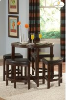 5-Piece Pack Counter Height Set Table : 40 Dia x 36H Stool : 18 x 18 x 24H Product Image