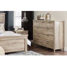 9-Drawer Storage Dresser - Rustic Style - Weathered Oak