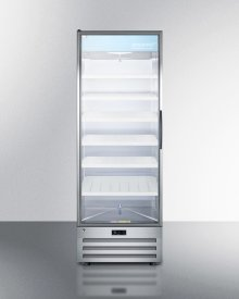 Full-size Pharmaceutical All-refrigerator With A Glass Door (left Hand Door Swing), Lock, Digital Thermostat, and A Stainless Steel Interior and Exterior Cabinet