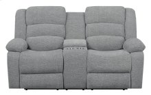 Emerald Home Bradford Motion Console Loveseat Gray U7055-09-09