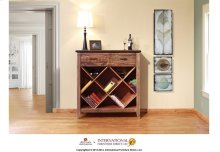 Multicolor Bookcase & Wine w/2 drawers