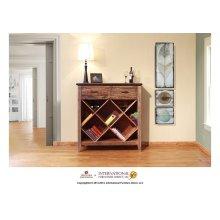 Multicolor Bookcase & Wine w/2 drawers