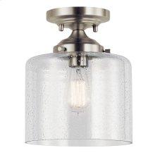 Winslow 1 Light Semi Flush Brushed Nickel