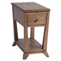 Creel 1-drawer Chairsider In Light Brown Product Image