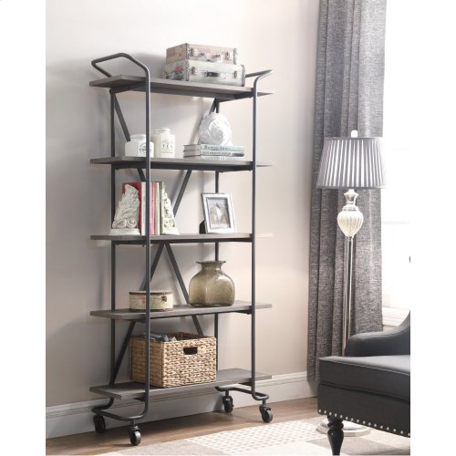 Emerald Home Quincy 36bookshelf W 5 Shelves Antique Grey Ac415 36