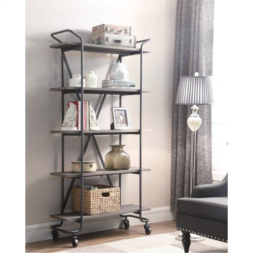 """Emerald Home Quincy 36""""bookshelf W/5 Shelves, Antique Grey Ac415-36"""