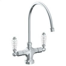 "Deck Mounted 1 Hole Kitchen Faucet With 9 3/4"" Spout"