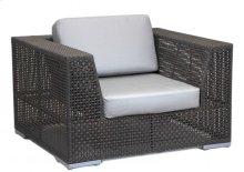 Atlantis Patio Lounge Chair in Rehau Fiber Java Brown Finish with Sunbrella Cushions
