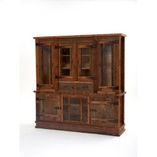 Heritage Oakridge Hutch With 4 Glass Doors
