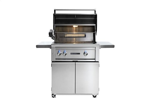 """30"""" Sedona by Lynx Freestanding Grill with 2 Stainless Steel Burners and Rotisserie, LP"""