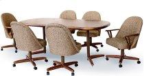 Table Base: Twin Legs (walnut & bronze) Product Image