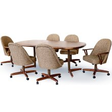 Table Base: Twin Legs (walnut & bronze)