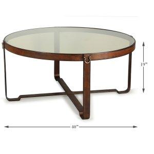 Sarreid Ltd Harness Round Coffee Table