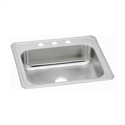 "Elkay Celebrity Stainless Steel 25"" x 22"" x 7"", Single Bowl Drop-in Sink"