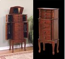 """""""Classic Cherry"""" Jewelry Armoire - overpacked Product Image"""