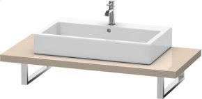 Console For Above-counter Basin And Vanity Basin, Cappuccino High Gloss Lacquer