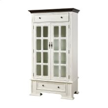 Hartford 2-door 2-drawer Cabinet With 3 Inner Shelves In White With Dark Top