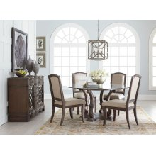 Parliament Round Dining Room Set: Table and 4 Chairs
