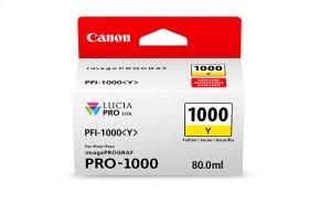 Canon PFI-1000 Yellow Ink Tank Yellow Individual Ink Tank
