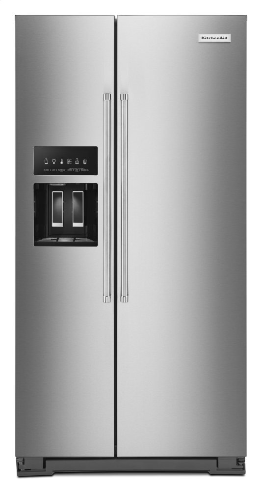 Kitchenaid22.6 Cu Ft. Counter-Depth Side-By-Side Refrigerator With Exterior Ice And Water And Printshield™ Finish - Stainless Steel With Printshield™ Finish