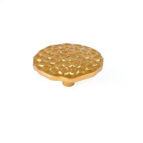 Satin Brass Pomegranate Round Knob 2 1/2 Inch