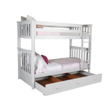Twin/Twin Bunk   Trundle Storage White