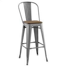 Promenade Metal Bar Stool in Gunmetal