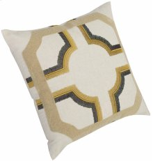 """Luxe Pillows Rope and Chain Embroidery (23"""" x 23"""")"""