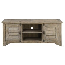 Emerald Home Interlude Entertainment TV Console-sandstone Finish E560-01