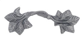 Vineyard Leaf Pull 3 Inch (c-c) - Pewter