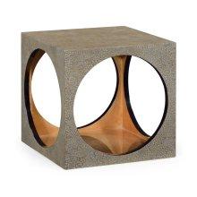 Square Circular Cut-Out Eggshell Stool