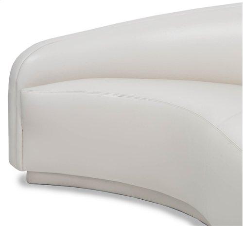 Dana Right Arm Chaise - Cream Leather
