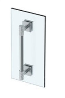 """Sense 12"""" Shower Door Pull / Glass Mount Towel Bar"""