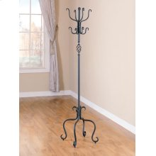 Transitional Black Metal Coat Rack