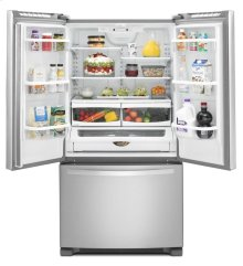 Scratch and Dent/Blemished 36-inch Wide French Door Refrigerator with Frameless Glass Shelves - 25 cu. ft.